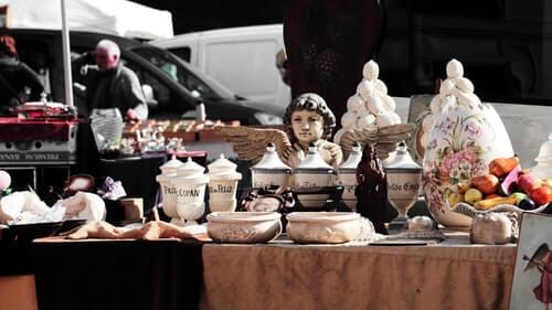 Flohmarkt in der Meraner Meinhardstraße