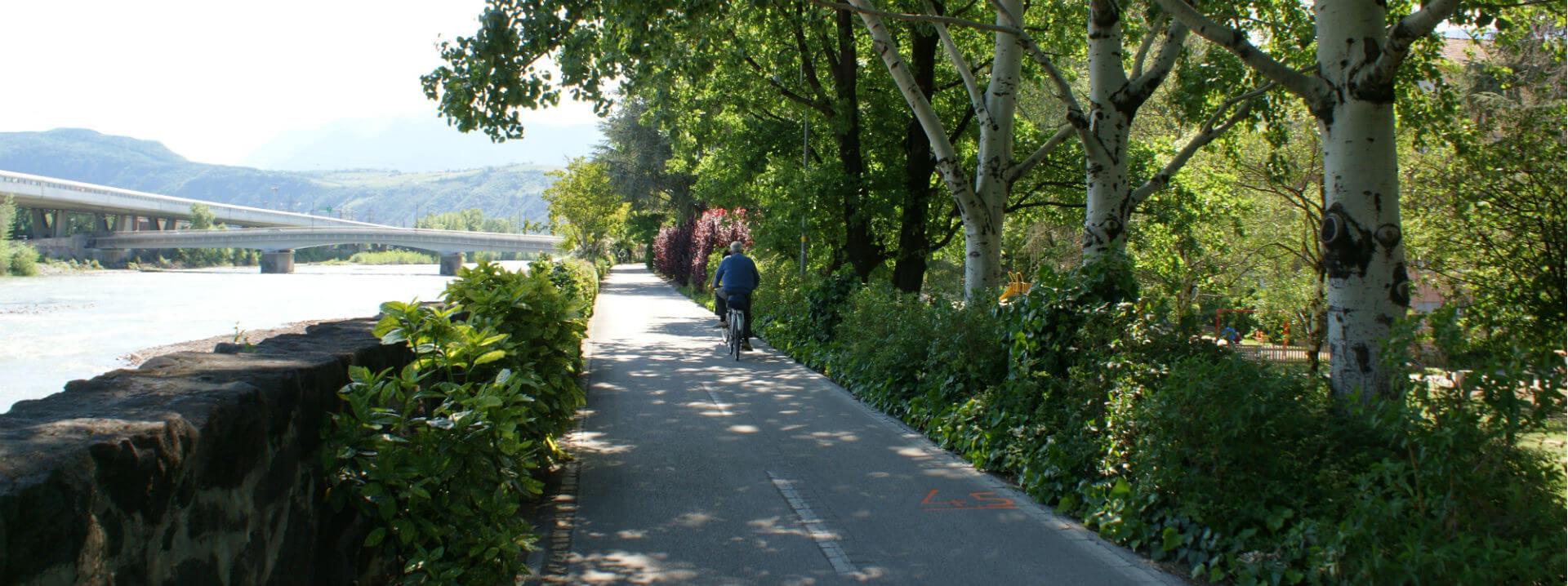 Radweg in Bozen