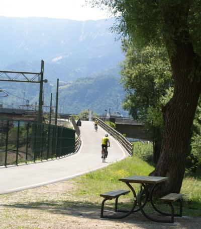 Bike route Merano to Bolzano along the railway tracks