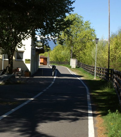 Bike route Vinschgau at Goldrain