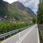 Radweg Vinschgau bei Tschars