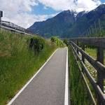 Radweg zwischen Goldrain und Latsch