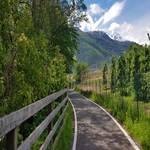 Radweg Richtung Latsch von Goldrain