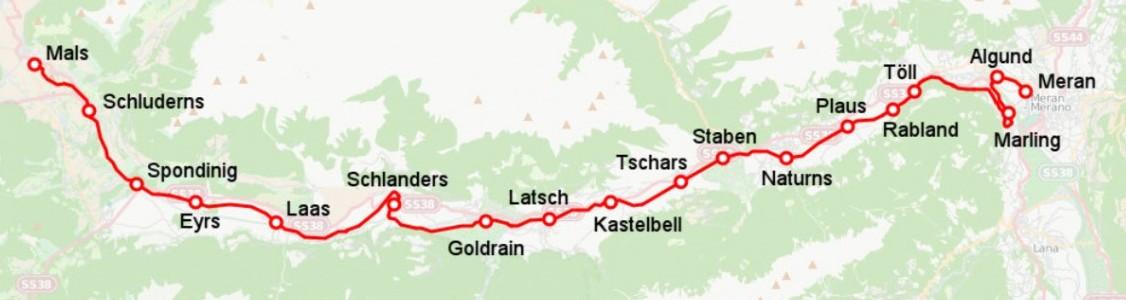 Bahnstrecke Mals-Meran